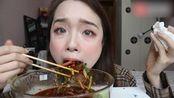 美食吃播:吃超辣的夫妻肺片,好吃的不敢直视~