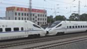 CRH5A-5130 CRH5A-5022重联 D6918次(齐齐哈尔-哈西)出平齐线齐北场 2019.05.28