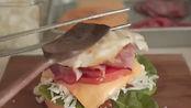 美食vlog:早餐美式汉堡