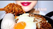 【BobToriTV】炸酱面 +火鸡面 +鸡肉肠 +煎鸡蛋 咀嚼音食音 自制