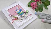 【卡片】清新厨具卡片制作教程|马克笔印章盖片上色|Newton's Nook Designs | Made From Scratch |