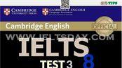 剑桥雅思听力真题 剑8 Test3 结尾附答案