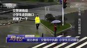 [热线12]热线关注 湖北孝感:交警雨中执勤 小学生主动撑伞
