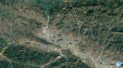 卫星图看陕西省商洛市的商洛学院