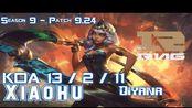 [LOL第一视角]RNG Xiaohu QIYANA vs FPX Doinb RUMBLE Mid - Patch 9.24 KR Ranked