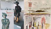 和美国艺术家MINNIE VALERO一起 青岛市雕塑馆写生 VLOG043