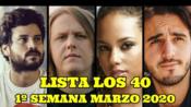 [Los 40]西语 | 西班牙Los 40 音乐排行榜(2020年3月第1周) #Listas Música