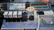 PLC流水灯控制要求演示,看清实物与mcgs演示,这个程序你能编吗