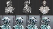 【zbrush机甲高模】zbrush硬表面机甲高模雕刻制作分析讲解(二)