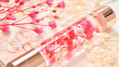 【浮油花朵印章】用植物标本油制作可爱的花朵印章笔
