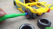 组装迪士尼皮克斯赛车3克鲁兹拉米雷斯汽车为儿童学习颜色的儿童