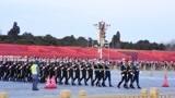 12月8日16点47分,天安门广场国旗缓缓降下,很激动