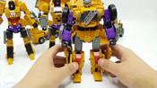 变形金刚_建设装备汽车玩具_黄锦江构造汽车机器人变身玩具卡车玩具【俊和他的玩具们_7