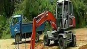 劲工挖掘机工作视频表演 现场施工gq