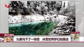 四川九寨沟:九寨沟下了一场雪 冰雪世界梦幻如童话