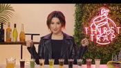 Ashley Tisdale参加ELLE的Thirst Trap节目,10个问题对应10杯奇怪的饮品。