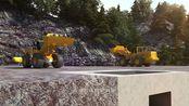 石料生产线英文-矿山生产线机械工业设备3d动画-郑州北京动画漫游制作