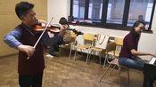 钱致远2020年3月于布鲁塞尔皇家音乐学院。维厄当《夜莺》