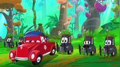 超级小轿车罗伊斯乘坐时光隧道机来到原始部落一行旅行太奇妙了