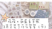呜喵 * 甜盐系手帐 |3月买了什么东东(下):新胶带 素材 收纳 印章