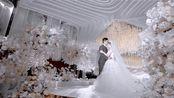 婚礼上用作交接区或起点的多层圆舞台制作