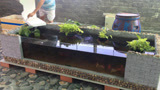 用泡沫板,给鱼池制作流水装置,起初以为玩玩而已,成品不得不服