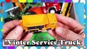 收割机、拖拉机、挖掘机玩具,学习车辆名称