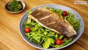 中字 Cara Memasak Salad Sea Bass 快手餐 海鲈鱼色拉