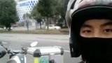 骑行摩旅环游黔东南州旅游来到了凯里市去吃酸汤砂锅粉