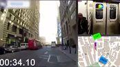 """纽约一男子与地铁""""赛跑""""用时1分44秒成功搭车"""