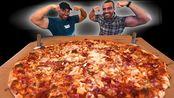 【Nathan】和大嘴Nick一起挑战28寸超大披萨挑战(200美元奖金)!