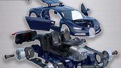 不用一根金属螺丝,如何拼装成一辆严丝合缝的车模?之间的衔接有多巧妙?布加迪chiron1:18拼装模型