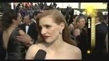 专访杰西卡·查斯坦 裸色礼服迷人将角逐影后桂冠