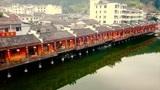 航拍江西省景德镇市浮梁县瑶里风景区,粉墙黛瓦,小桥流水