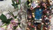 unk Journal《中世纪玫瑰园》Rose & Laces 置身于玫瑰园中~A5厚度20+cm 本壳为滴胶微缩景观(可夜光)