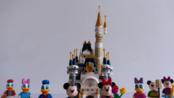 【日常】disney castle迪斯尼城堡积木定格动画【VLOG】【女友的100天小礼物】