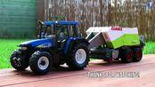 【乐高搬运】LEGO乐高 New Holland TM 140 拖拉机+ Claas Quadrant 2200