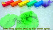 益智早教英语启蒙 DIY太空沙彩色条组装各种模型玩具学习英文