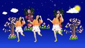 简单易跳的中老年舞蹈《月亮弯弯在天边》广场舞