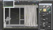 透明窗纱,折射结合双面材质,写实又有细节