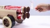 厉害了!牛人制作了一辆火柴驱动的卡车