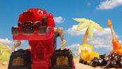 暴龙机械vs破坏机械 黑矿石争夺战 甲龙机械背上黑矿就跑