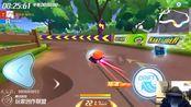 跑跑卡丁车:经典地图2分14秒,主播比比会bb冠军时刻