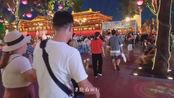 延时摄影:夜晚的大唐不夜城,人潮涌动