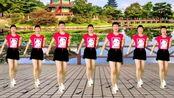 花开朵朵广场舞《花桥流水》网红步子舞,健身减肥两不误