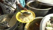 印度街头快餐,一份20卢比