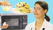这位厨师能用微波炉再做一份三道菜的饭菜吗?
