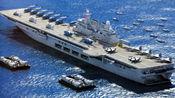 075攻击舰正式下水,排水量高达4万吨,30架歼15停入机库