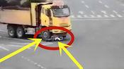 浙江女子骑车闯红灯遭货车拖行30多米险丧命,被判全责,竟称是司机的错