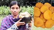 印度妇女用棕榈果做成甜品小吃,看看她是如何制作的